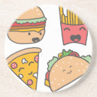 fast food friends coaster