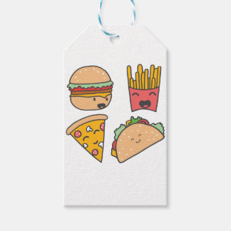 fast food friends gift tags