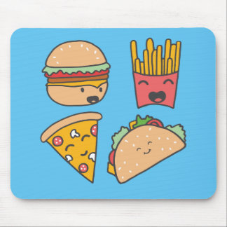 fast food friends mouse pad