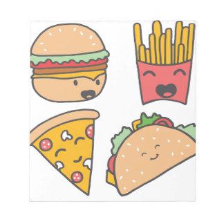 fast food friends notepad