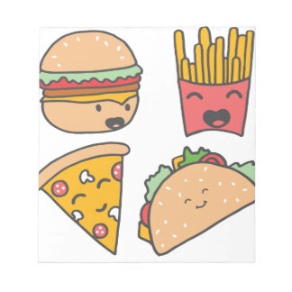 fast food friends notepads