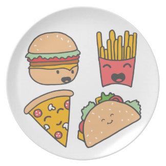 fast food friends plate