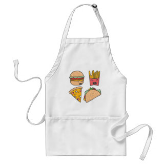 fast food friends standard apron