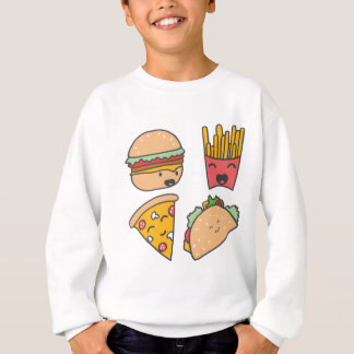 fast food friends sweatshirt