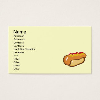 FAST FOOD HOT DOG CARTOON KETCHUP MUSTARD MEALS SN BUSINESS CARD