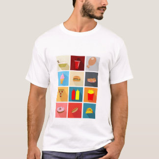 Fast Food Icons T-Shirt