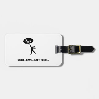 Fast Food Lover Luggage Tag