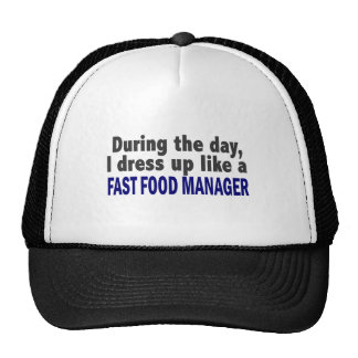 Fast Food Manager During The Day Mesh Hat