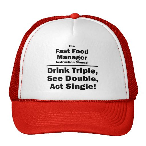 fast food manager hat