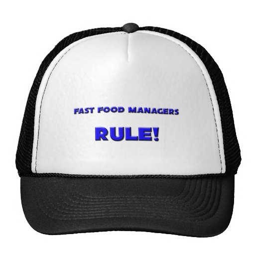Fast Food Managers Rule! Trucker Hats
