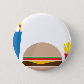 fast food meal 2 inch round button