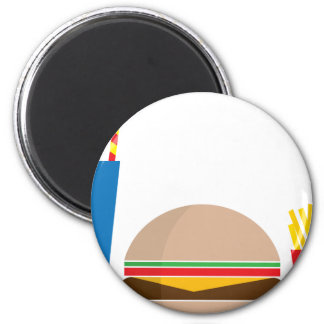 fast food meal 2 inch round magnet