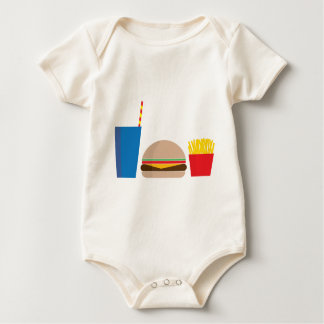 fast food meal baby bodysuit