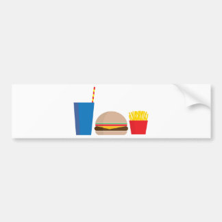 fast food meal bumper sticker