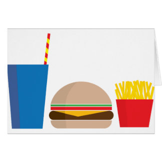 fast food meal card
