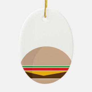 fast food meal ceramic oval ornament