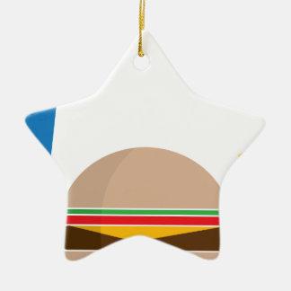 fast food meal ceramic star ornament