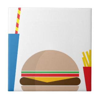 fast food meal ceramic tiles