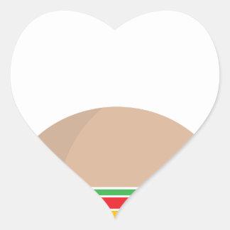 fast food meal heart sticker