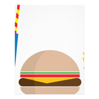 fast food meal letterhead