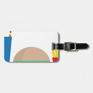 fast food meal luggage tag