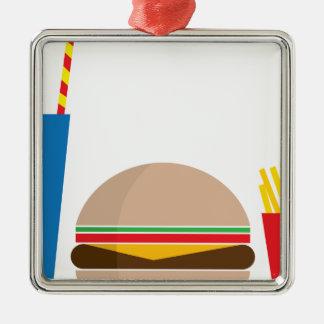 fast food meal metal ornament