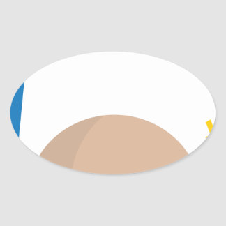 fast food meal oval sticker
