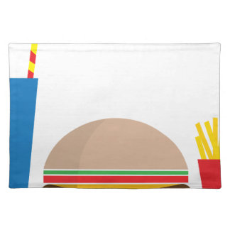 fast food meal placemat