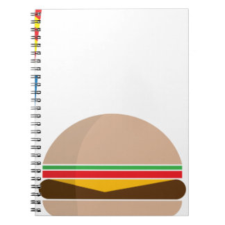 fast food meal spiral notebook