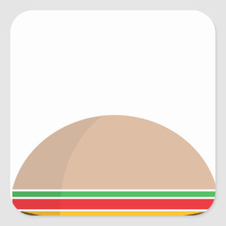 fast food meal square sticker