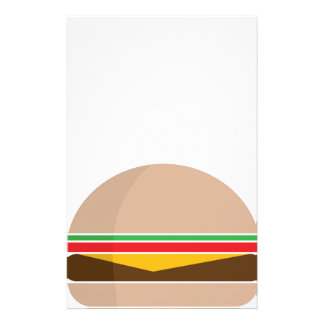 fast food meal stationery