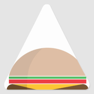 fast food meal triangle sticker