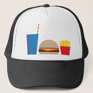 fast food meal trucker hat