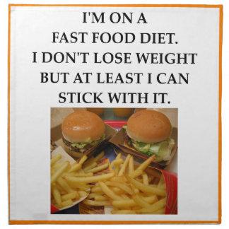fast food napkin