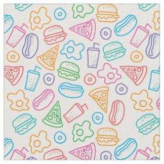 Fast food pattern 2 fabric