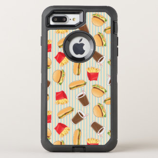 Fast Food Pattern 2 OtterBox Defender iPhone 7 Plus Case