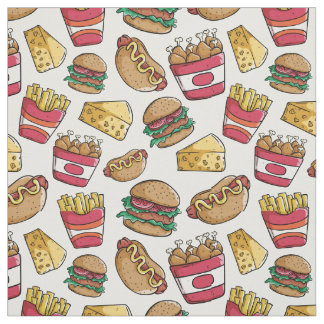 Fast Food Pattern fabric