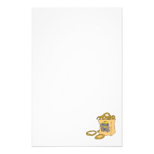 fast food side of onion rings personalized stationery
