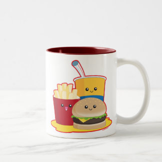 Fast Food Two-Tone Coffee Mug