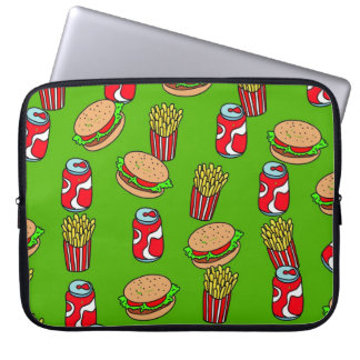 Fast Food Wallpaper Laptop Sleeve