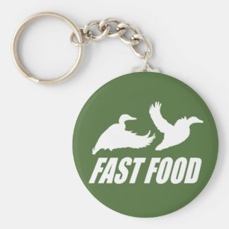 Fast food water fowl w basic round button keychain