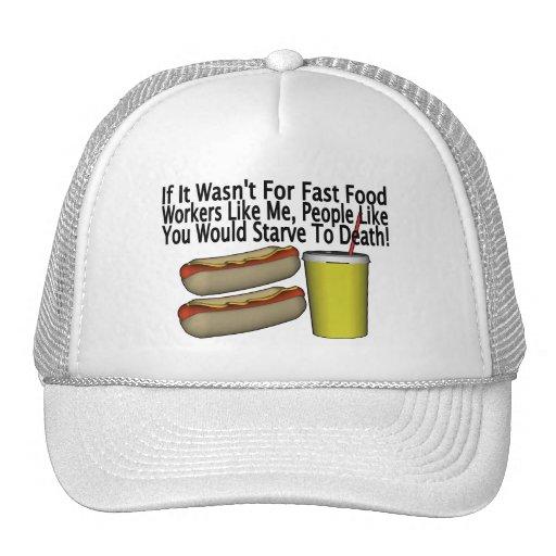 Fast Food Worker Trucker Hat