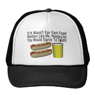 Fast Food Worker Hats