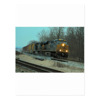 Fast Freight at Beaver Postcard