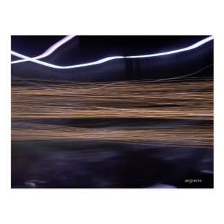 Fast (gold and white light streaks) postcard