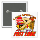 Fast Lane 80th Birthday Gifts Button