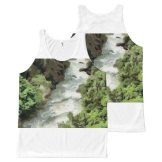 Fast moving river All-Over-Print tank top