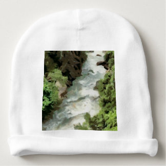 Fast moving river baby beanie
