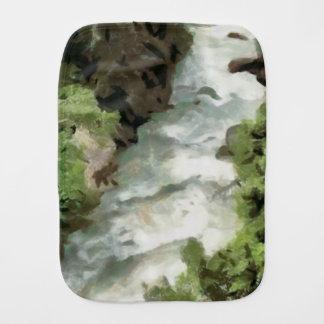 Fast moving river burp cloth