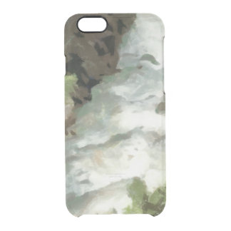 Fast moving river clear iPhone 6/6S case